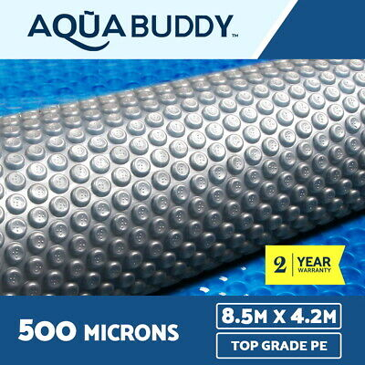 Aquabuddy Solar Swimming Pool Cover 500 Micron Outdoor Blanket 8.5M X 4.2M
