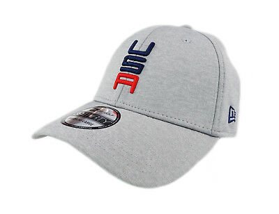 NEW 2018 NEW Era 39Thirty USA Ryder Cup Grey Friday Round Fitted M L ... b89bb174a5b
