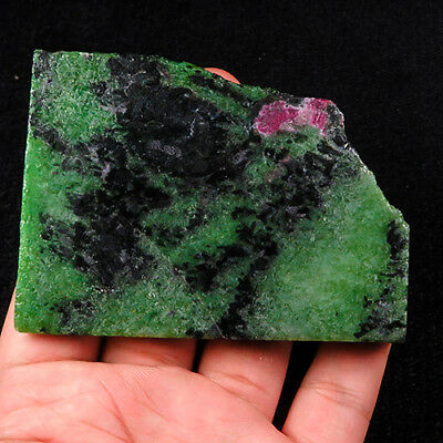 628Ct 100% Natural Red Green Bi Color Ruby In Zoisite Rough Specimen YGB64