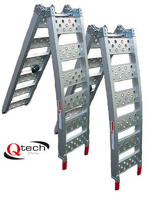 Bike RAMP PAIR x2 Motorcycle Motorbike ATV ALUMINIUM Loading Motocross By Qtech