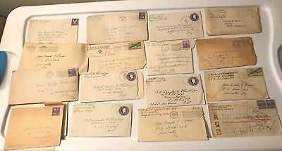 Rare Collection of 12 Vintage Letters To/From WWII Soldiers & Family