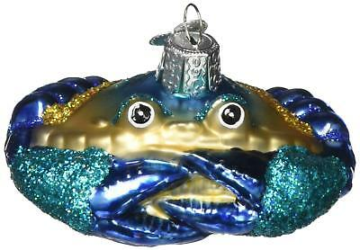 Blue Crab Blown Glass Ornament by Old World Christmas