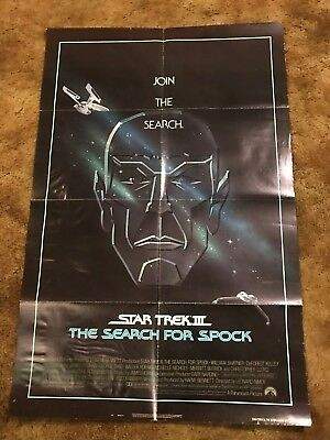 STAR TREK III THE SEARCH FOR SPOCK 1984 1 ONE SHEET MOVIE POSTER 27 x 41