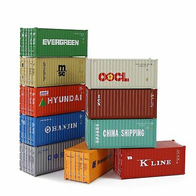 20ft Containers Shipping Container Wagon Freight Car HO Scale Railway Modeling