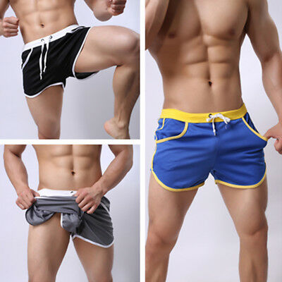 Mens Summer Swim Shorts Swimwear Trunks Underwear Boxer Briefs Short Hot Pants