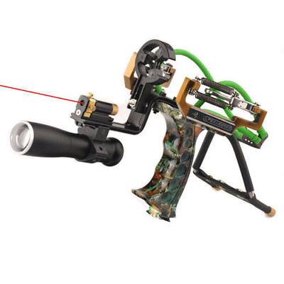 Professional Laser Slingshot Hunting Fishing Catapult with Arrow Rest Archery