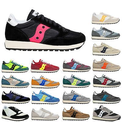 Saucony Jazz Original Vintage Suede Mesh Lace-Up Low-top Sneakers Mens Trainers