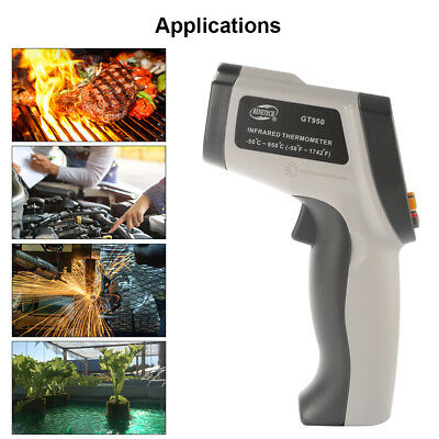 Infrared Digital Temperature Thermometer Laser Non-Contact IR Gun w/ LCD Display