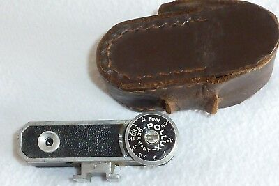 Leather Cased Pollux Accessory Shoe Fit Rangefinder Attachment