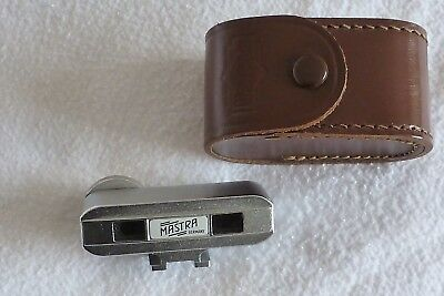 Leather Cased Mastra Accessory Shoe Fit Rangefinder Attachment+Instructions
