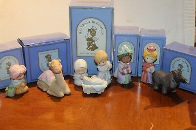 Lot of 6 Pieces Vintage Avon Heavenly Blessings Nativity Collection  1986 1987