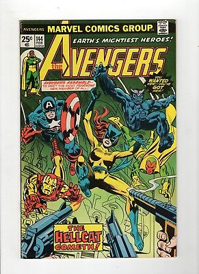 The Avengers #144 F+ 6.5 Off White Pages Mark Jewelers Insert Variant