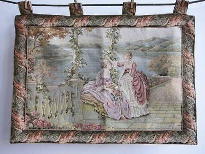 """Beautiful French Verdure Style Tapestry 33"""" X 22"""" Wall Hanging"""