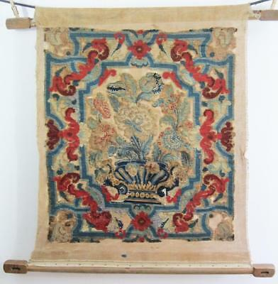 Beautiful Antique Tapestry Panel 1850 640mm X 460mm Shabby Chic vintage  a