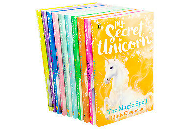 My Secret Unicorn 10 Book Collection Linda Chapman, Rising Star, Friends Forever