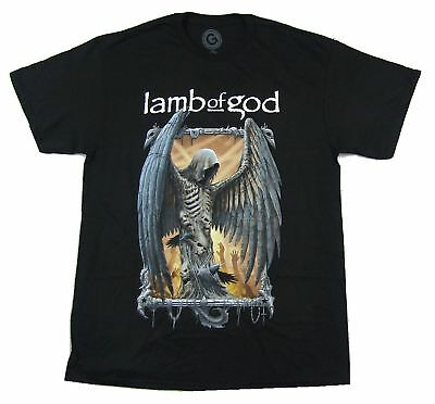 Lamb Of God Winged Death Black T Shirt New Official Band Merch