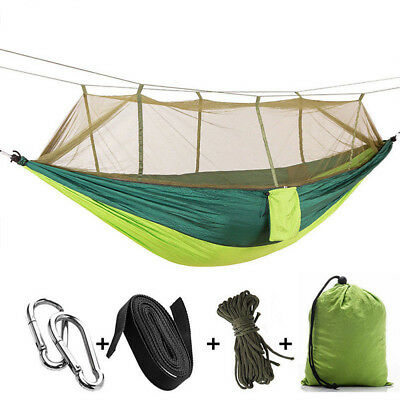 2 Person Travel Outdoor Camping Tent Hanging Nylon Hammock Bed With Mosquito Net