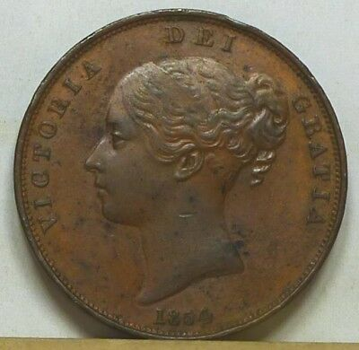 Great Britain Penny 1854 Extremely Fine NO RESERVE