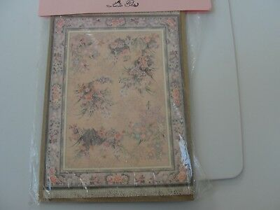 "Dollhouse Miniature Floral Rug by MacDoc Designs NRFP   7"" BY 5"""