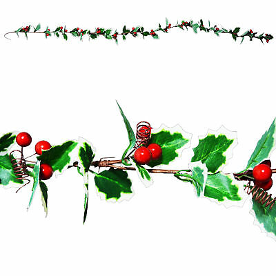 Christmas Artificial 1.3 Metre Holly Garland / Christmas Crafts