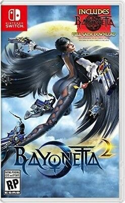 Video Game Bayonetta 2 Nintendo Switch With Physical Game Card