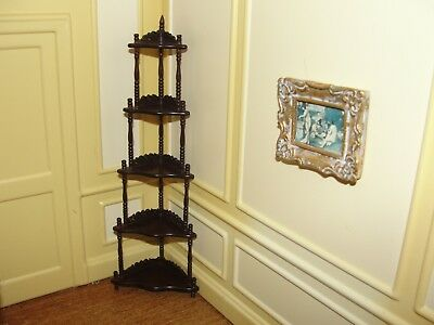 Dollhouse Miniature Mahogany Corner Victorian What-Not    by X-ACTO