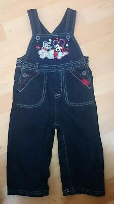 The Disney store Baby Boy Mickey Mouse Dungarees 9 12 Mths