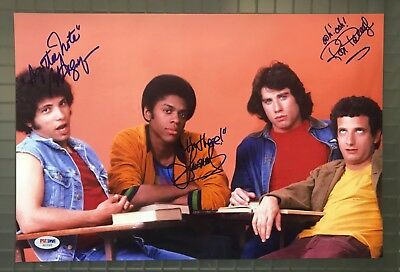 WELCOME BACK KOTTER Cast 3x Multi Signed 10x15 Photo PSA/DNA LOA