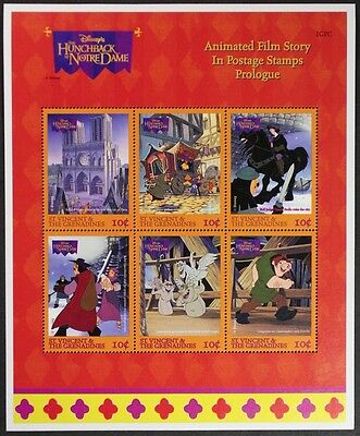 Z275 ST. VINCENT & GRENADINES Disney Hunchback of Notredame Mini Sheet Mint NH