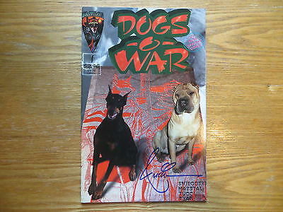 1996 Crusade Comics Dogs-O-War # 1 Variant Cover Signed By Billy Tucci, With Poa