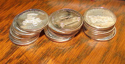 25 Franklin Mint Sterling Silver Rounds~~~~~193 Grams Sterling Silver