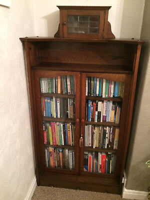 Arts and Crafts Antique Glass Door Bookcase
