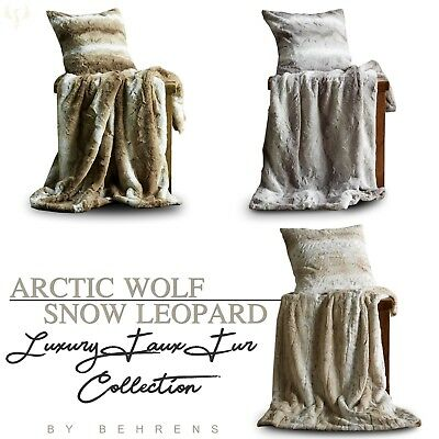 Arctic Wolf Faux Fur Blanket Sofa Bedroom Super Mink Soft Animal Print Throw