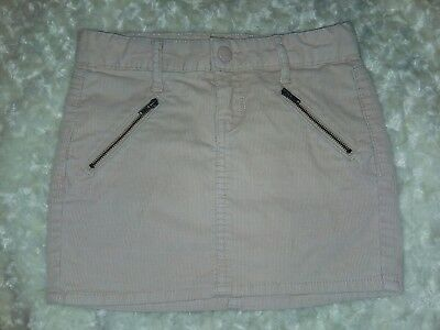 f0f9b30ff Gap Kids Girls Pale Blush Pink Fine Corduroy Skirt Zip Pockets Sz 6 EUC Aj  Waist