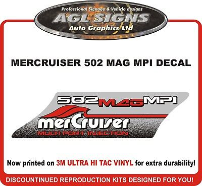 Mercruiser  502 MAG MPI  Reproduction Decal  Multi Port Injection