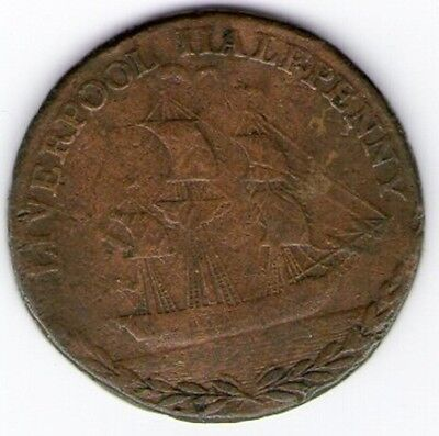 Great Britain 1791 Liverpool Halfpenny Token