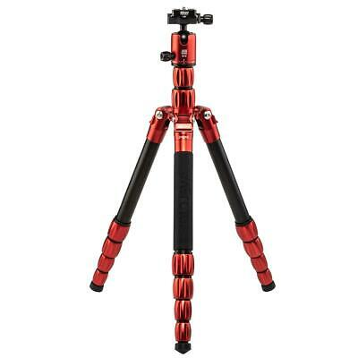 MeFOTO RoadTrip S Aluminum Travel Tripod/Monopod, Red #RTSARED