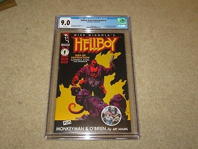Hellboy: Seed Of Destruction #1 1st Hellboy CGC 9.0 1994 Dark Horse White Pages