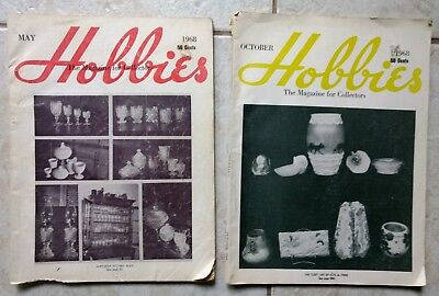 1968 HOBBIES Magazines The Magazine for Collectors  May & October  Issues