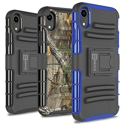 CoverON For Apple iPhone XR / 10R Belt Clip Shockproof Tough Case Hybrid Cover