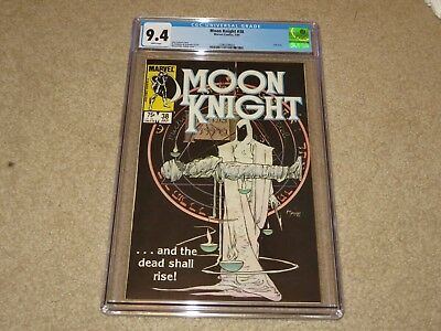 Moon Knight #38 Last Issue CGC 9.4 1984 Marvel White Pages