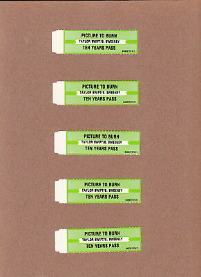 Jukebox Title Strips  5 Count  Lot # 177  Taylor Swift - Picture To Burn