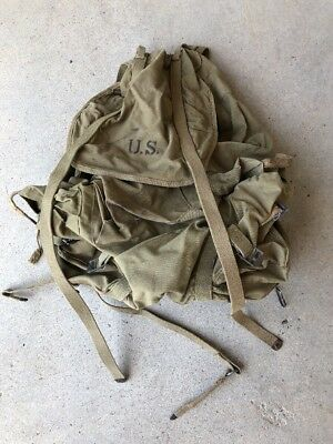 1942 WW II US ARMY 10th Mountain Div Steel Frame Backpack Rucksack Excellent