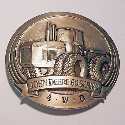 1989 Belt Buckle - JOHN DEERE - 60 Series 4WD Tractor - Unused IOP