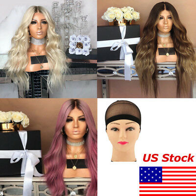 womens long short hair full wig lot natural curly wavy synthetic cosplay party