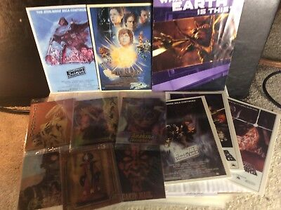 12 Star Wars Bundle Of Rare Postcards And Game Deck Cards