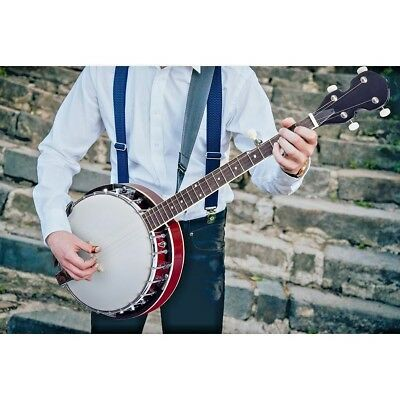 5 String Banjo Christmas Gift Full Size Geared with Closed Back 24 Bracket