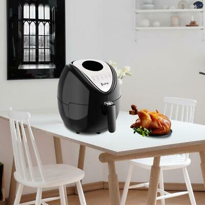 1500W LCD Electric Air Fryer W/ 6 Cooking Presets, Temperature Control, Timer