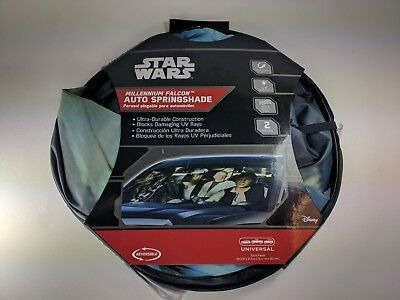 Star Wars 2 Piece Sunshade Windshield Wind Shield Sun Shade Visor Car Millennium