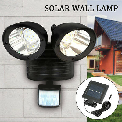 22LED Solar Spot Light Security Detector Motion Sensor Outdoor Floodlight Lamp